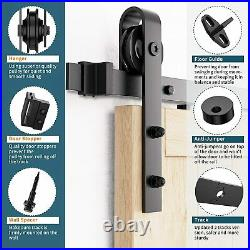 Sliding Barn Door Hardware Kit Double Door 12 ft Heavy Duty Smoothly And Quietly