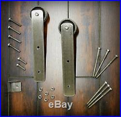 Sliding Barn Door Hardware Kit for One Door Wood Modern industrial 4-12 ft track