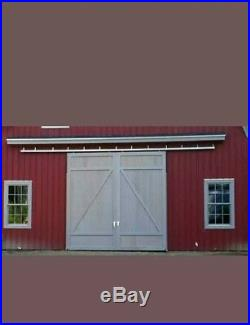 Sliding Barn Door Package 6' Track Trolleys & Wall Brackets USA Hardware