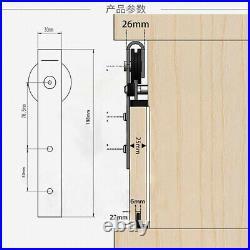 Sliding Barn Door Roller Kit Hardware Track Set Double Antique Classic Bedroom
