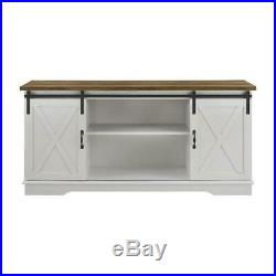 Sliding Barn Door TV Stand Holder Entertainment Center Hardware Cabinet Shelf