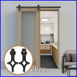 Sliding Barn Door Track Hardware Kit from 121CM to 274CM for Single Door