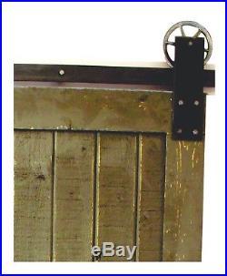 Sliding Barn Wood Door Hardware kit set track industrial plate 4 12 FT