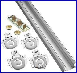 Sliding Closet Door Track Kit National Hardware 1-Piece 48-in Bi-pass Door Wheel