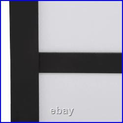 Sliding Door 48 in. X 81 in. Rust-Proof Aluminum Track Painted Glass Panel Wood