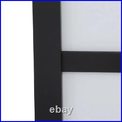 Sliding Door 48 in x 81 in. Tranquility Glass Panels Back Painted White Interior