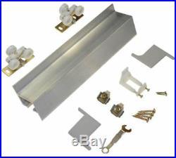 Sliding Doors Hardware, Wall-Mount Doors 96 in. Aluminum Track & Hardware Set