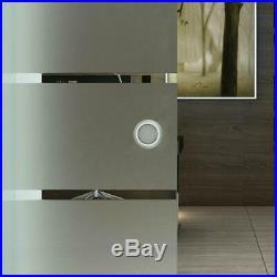 Sliding Glass Door Barn Interior Tempered Frosted Glassdoor Hardware Track 2M