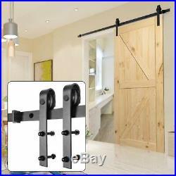 Sliding Patio Door Hardware Barn Wood 8 Basic Kit Garage Exterior Interior Blac
