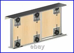 Sliding Wardrobe Door Gear Track Kit for 18mm panels, handles, 2 doors 1800mm