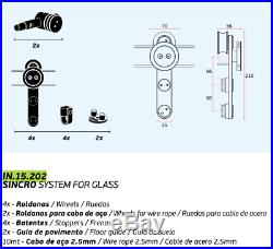 Sliding door hardware Sincro system for glass