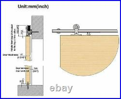 Soft Close Sliding Hardware Brushed Top Mount Studio Barn Door Style Track Kit