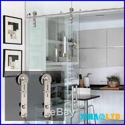 Stainless Steel Sliding Barn Door Hardware Closet System Kit For Wood/Glass Door