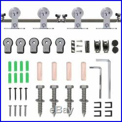Stainless Steel Sliding Barn Door kit Track Hardware Set for Wood or glass door