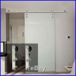 Stainless Steel Sliding Barn Wood Door Hardware Track Kit for Wood/Glass Door J