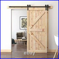 Steel Sliding Barn Hardware Double Wood Doors One 6.6 FT Bypass Kit (one rail)
