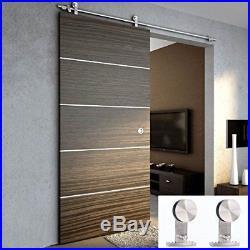 TCBunny 6' 7 Modern Stainless Steel Interior Sliding Barn Wooden Door Hardware