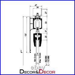 Top Hung 120kg Per Door Glass Sliding Door Track System Hardware Kit