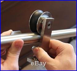 Top Mounted Modern European Stainless Steel Sliding Barn Door Hardware Track Set