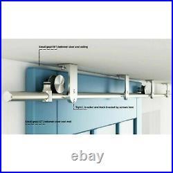 Top ceiling mount bracket brushed stainless steel wood sliding barndoor hardware