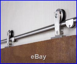 Top mount easy install barn door hardware stainless steel sliding barn track kit