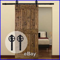 Track & Roller Wood Sliding Barn Door Hardware Hangers Kit for Garage Wood Door