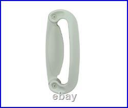 Tribeca 2-Panel Gliding Patio Door Hardware Set in White Sliding Trim Zinc New