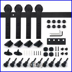 U-MAX 13 FT Heavy Duty Double Door Sliding Barn Door Hardware Kit Smoothly and