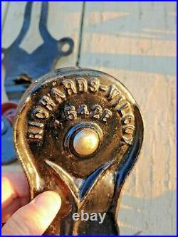 Unused Antique Cast Iron Richards Wilcox Hardware Hanger Barn Door Sliding Door