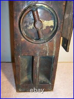 Very Unusual Brass Commercial Locking Antique Sliding Pocket Door Hardware