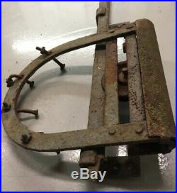 Vintage 2-Pair, SLIDING BARN DOOR HARDWARE, 4 Iron ROLLERS & HINGES, 8ft Rail
