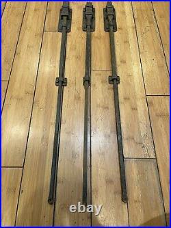 Vintage 30 inches Door latch Lock Sliding Bolt Lot of 3