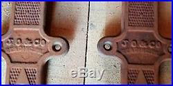 Vintage Antique Cast Iron SLIDING BARN DOOR Rollers Hardware Hangers Made USA