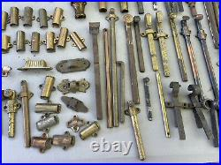 Vintage Door Hardware Lock Sliding Latch Bolt Lot