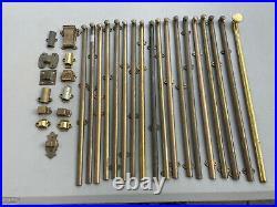 Vintage Door Hardware Lock Sliding Latch Bolt Lot 18 Inches Long