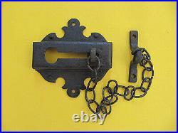 Vintage Spanish Revival Iron Door Slide Latch 1930's
