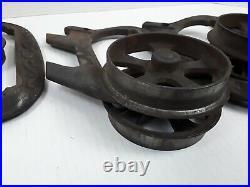 Vtg Antique Cast Iron Hardware Hanger Barn Door Sliding Pocket Door Roller Parts