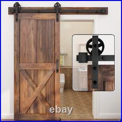 WINSOON 200cm Sliding Door Track Barn Sliding Wood Door Hardware Closet Kit for