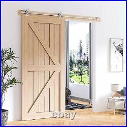 WINSOON 200cm Stainless Steel Sliding Door Track Barn Door Sliding Hardware