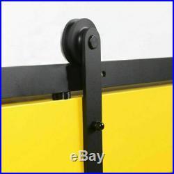 WINSOON Sliding Wood Barn Door Hardware Roller Set Hardware (Straight Design)