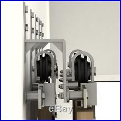Wallmount Stainless Steel Bypass Bracket for Sliding Barn Door Hardware set of 5