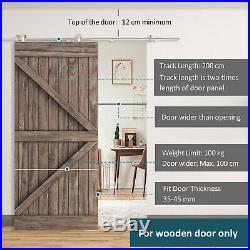 Wooden Sliding Door Kit Stainless Steel Operation Hardware Track For Door 2000mm