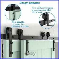 ZEKOO 6.6FT Bypass Sliding Barn Door Hardware Kit, Single Track, free shipping